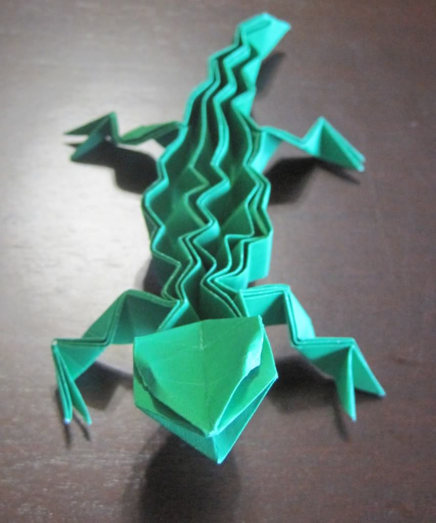 origami lizard � graceincrease custom origami art