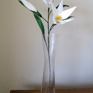 Easter Lily Origami Flower with Flower Bud