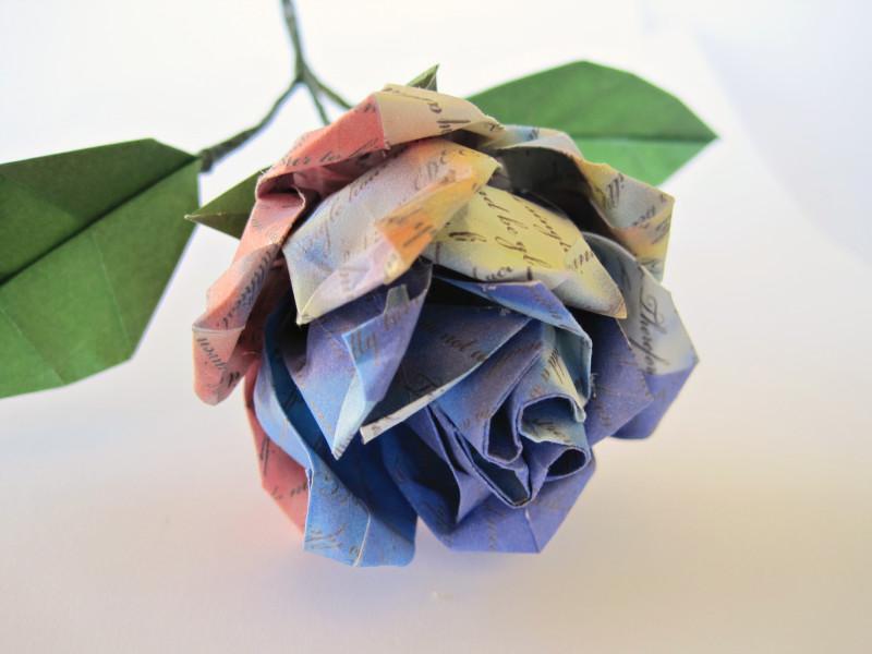 Customized Text Rose | Wedding Vows Keepsake Origami Rose