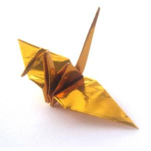 Metallic Origami Cranes