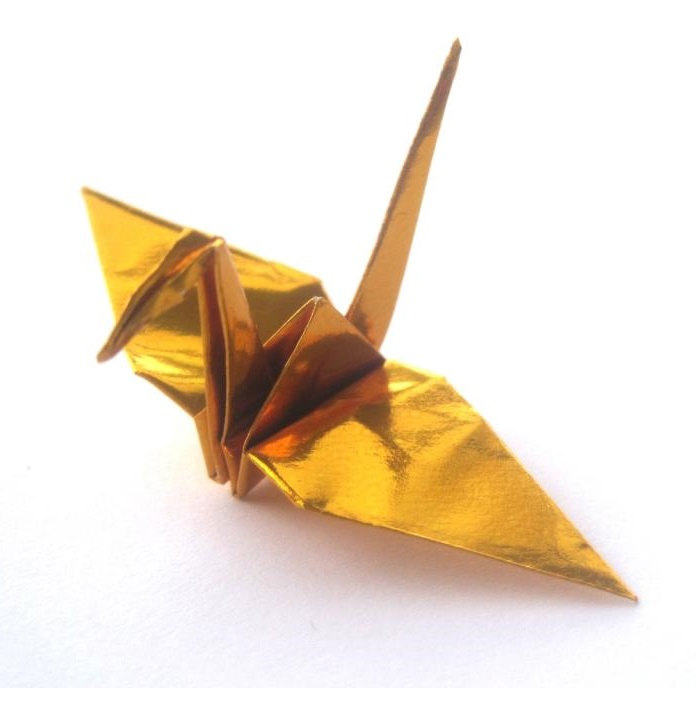 metallic gold origami cranes � graceincrease custom