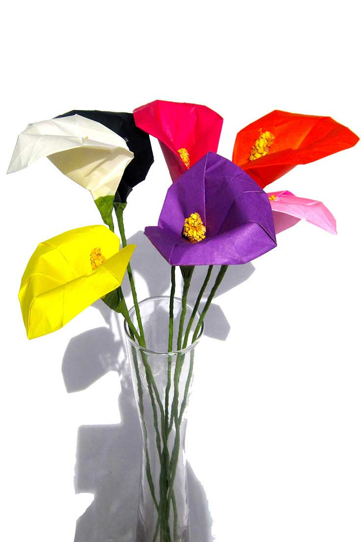 Origami Calla Lily Various Colors Available