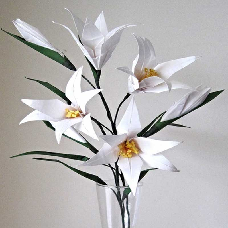 Easter Lily Origami Flower Bouquet Graceincrease Custom Origami Art