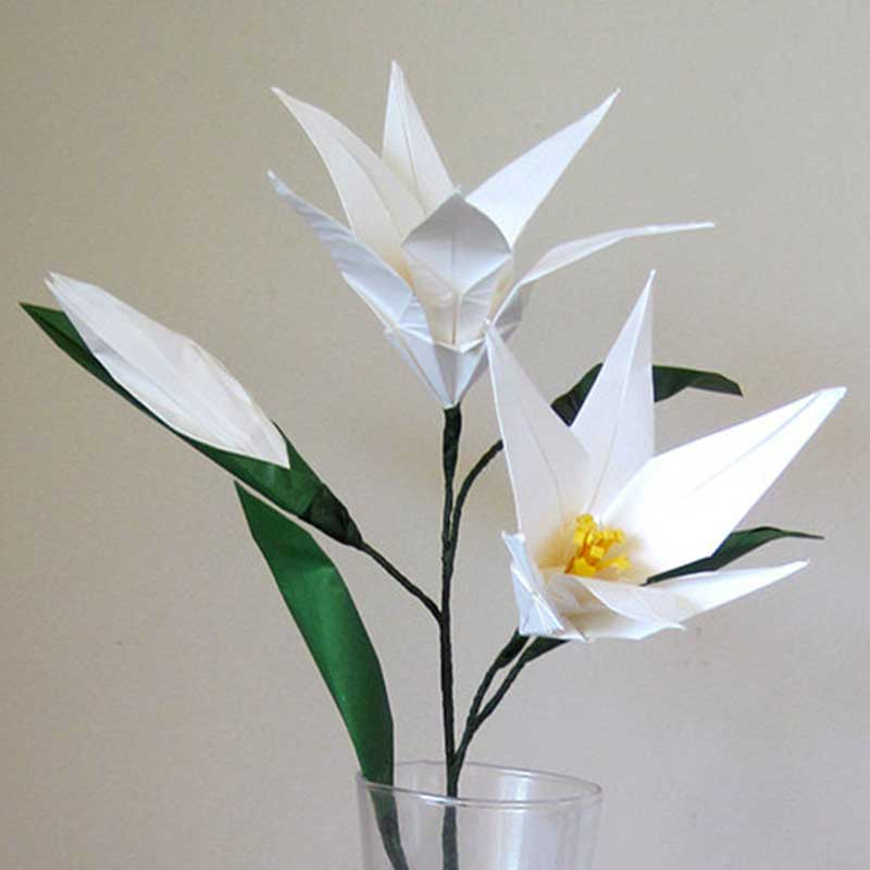 Easter lily origami flower bouquet graceincrease custom origami art easter lily origami flower bouquet mightylinksfo