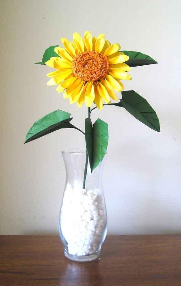 origami sunflower � graceincrease custom origami art