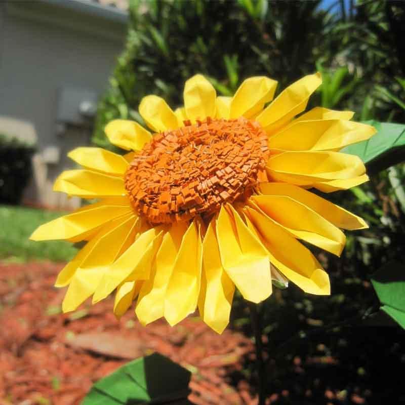 origami sunflower bouquet � graceincrease custom origami art
