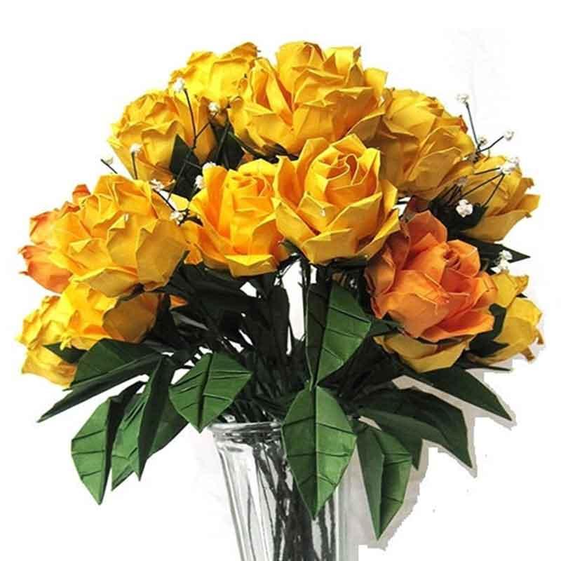premium origami rose bouquet
