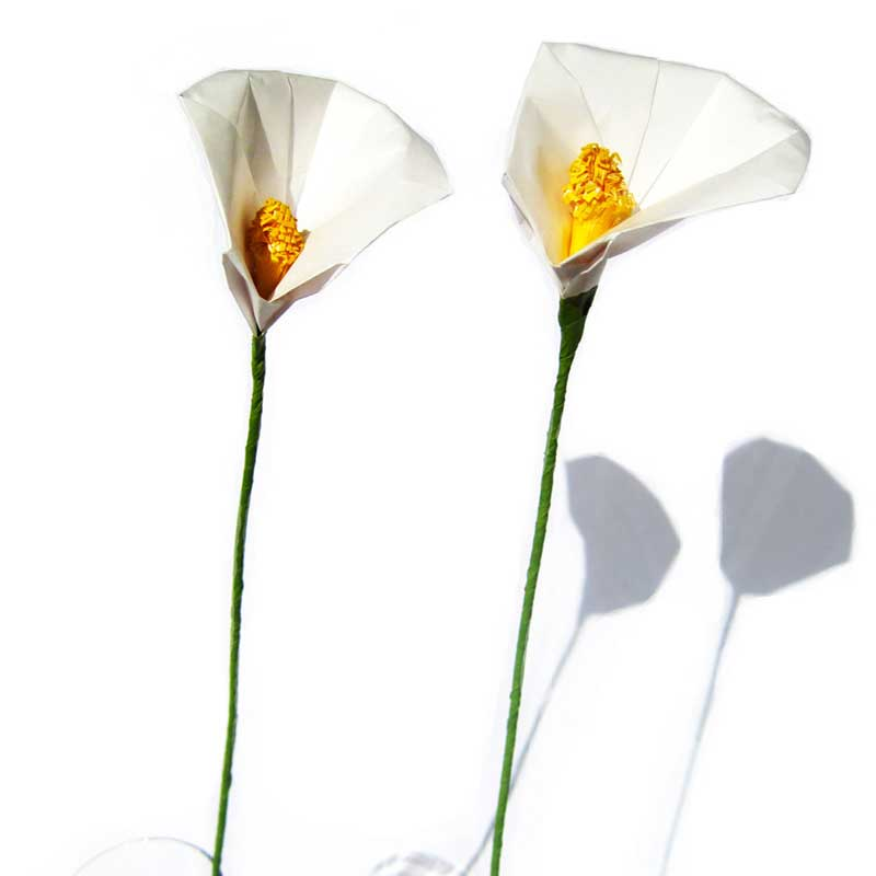 Origami Calla Lily Various Colors Available Graceincrease Custom