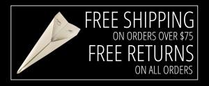FREE SHIPPING FREE RETURNS