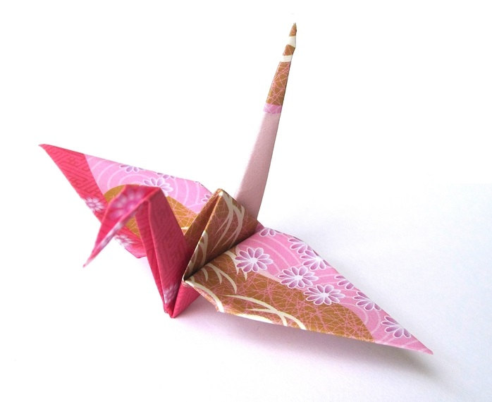 Japanese Crane Origami Birds Pink Japanese Paper