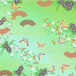 Japanese Paper Cranes, Traditional Kimono Pattern