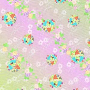 Japanese Pattern Paper Cranes, Purple Kimono Print