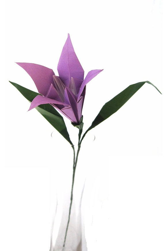 Traditional Origami Lily In Solid Color Graceincrease
