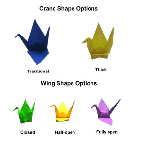 how to open origami cranes' wings