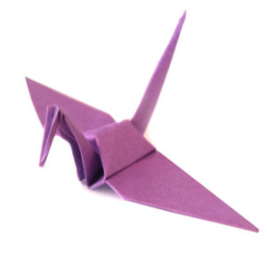 Light Purple Origami Cranes