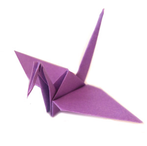 light purple origami crane