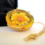 origami sunflower necklace