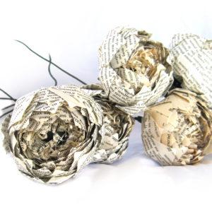 Romantic Vintage Paper Flower – Premium Origami Peony