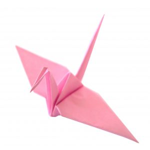 Solid Color Origami Cranes