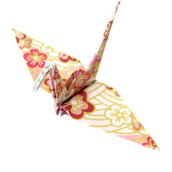 origami cranes  japanese blossoms pattern  sakura flower print  u2013 graceincrease custom origami art