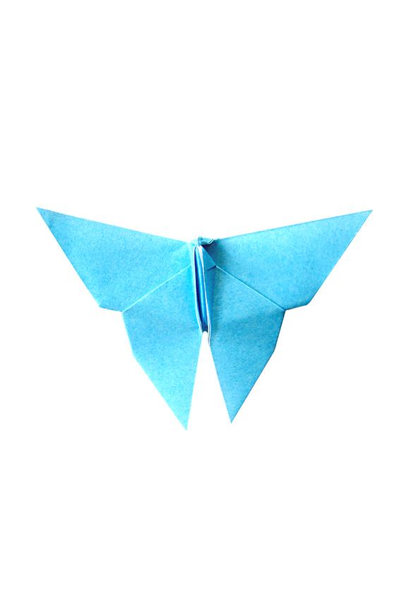 Deep Sky Blue Paper Butterflies