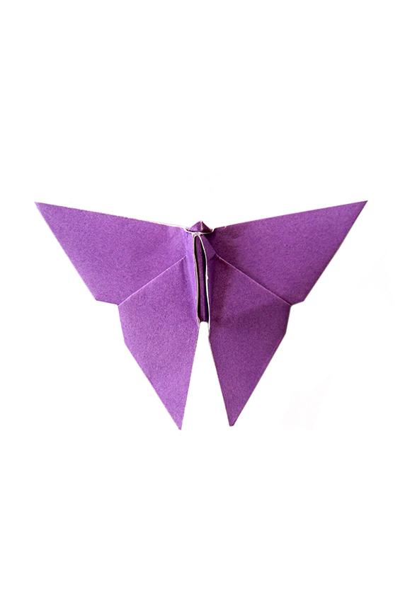 deep purple origami butterfly