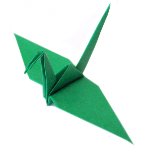 paper origami crane green � graceincrease custom origami art