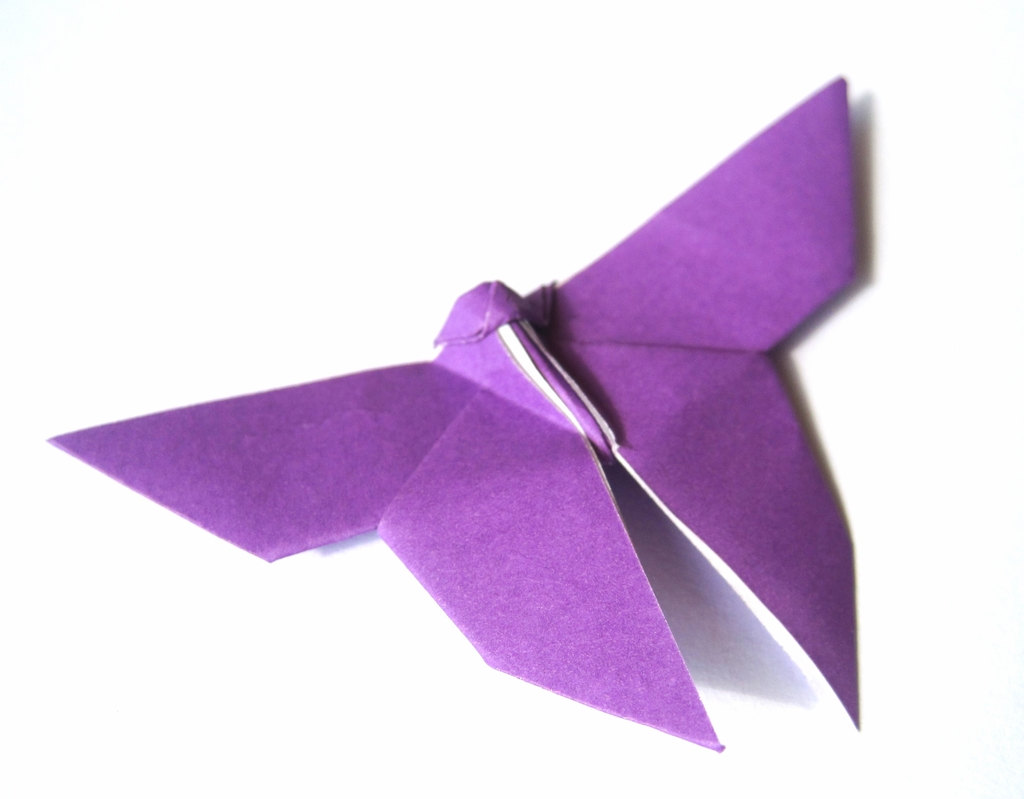 deep purple origami butterfly