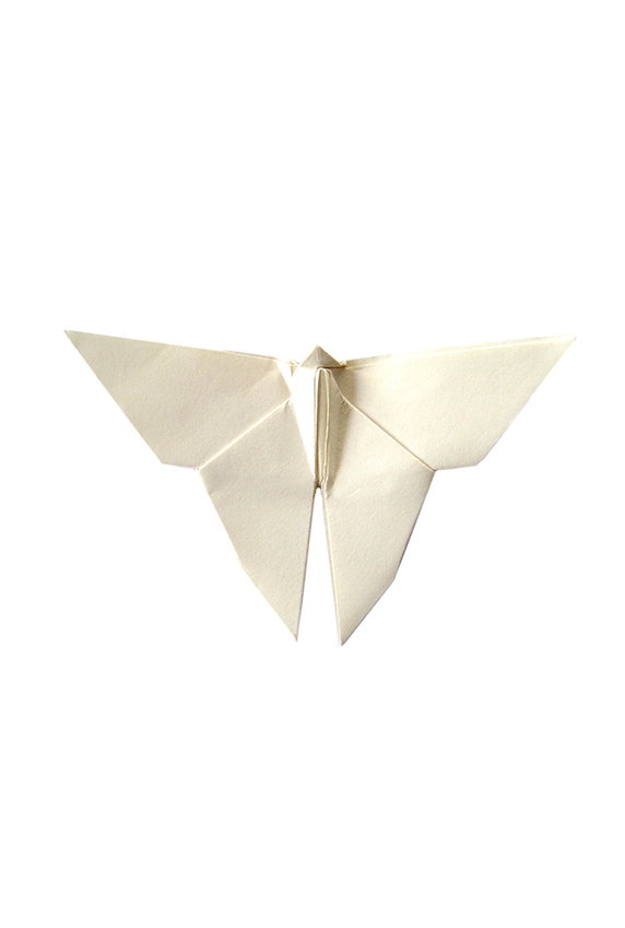 ivory origami paper butterfly