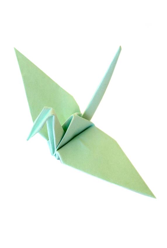 Origami Peace Crane, Mint Green