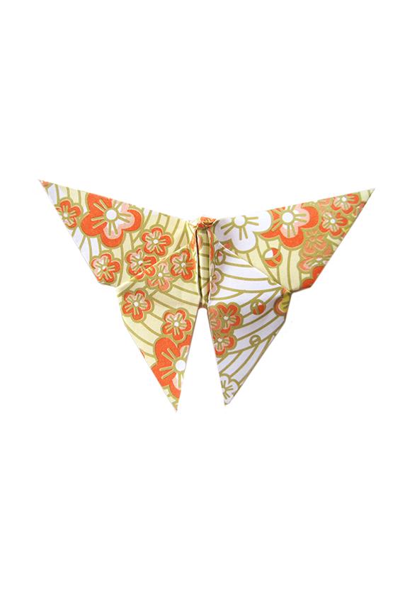 paper butterfly sakura print yellow