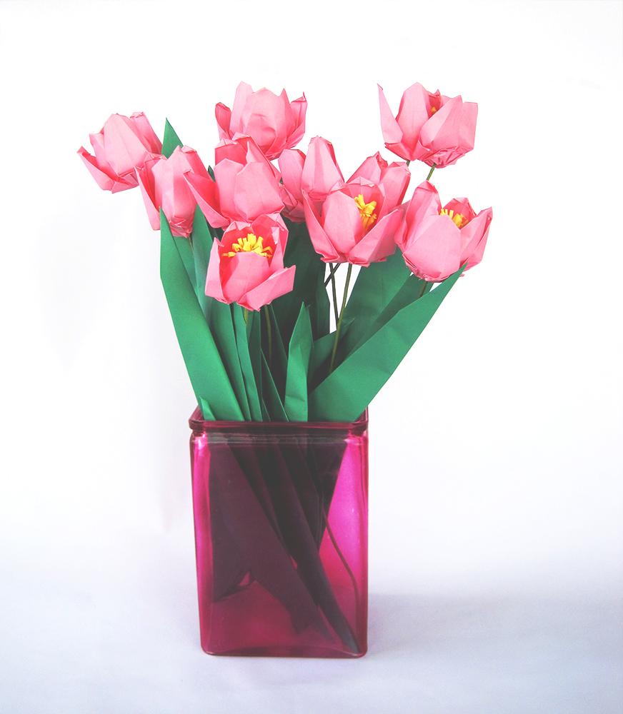 Tulips In Vase Care