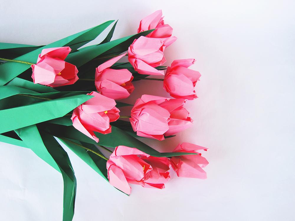 Premium Origami Tulip Bouquet 12 Graceincrease Custom