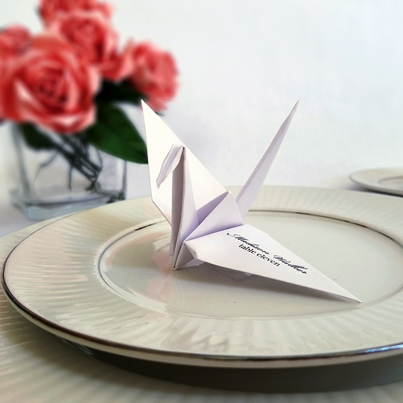 escort card origami crane � graceincrease custom origami art